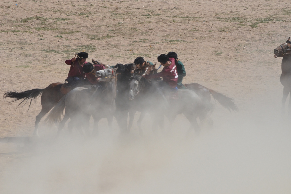 Competitions in kok-boru at the First World Nomad Games 2014