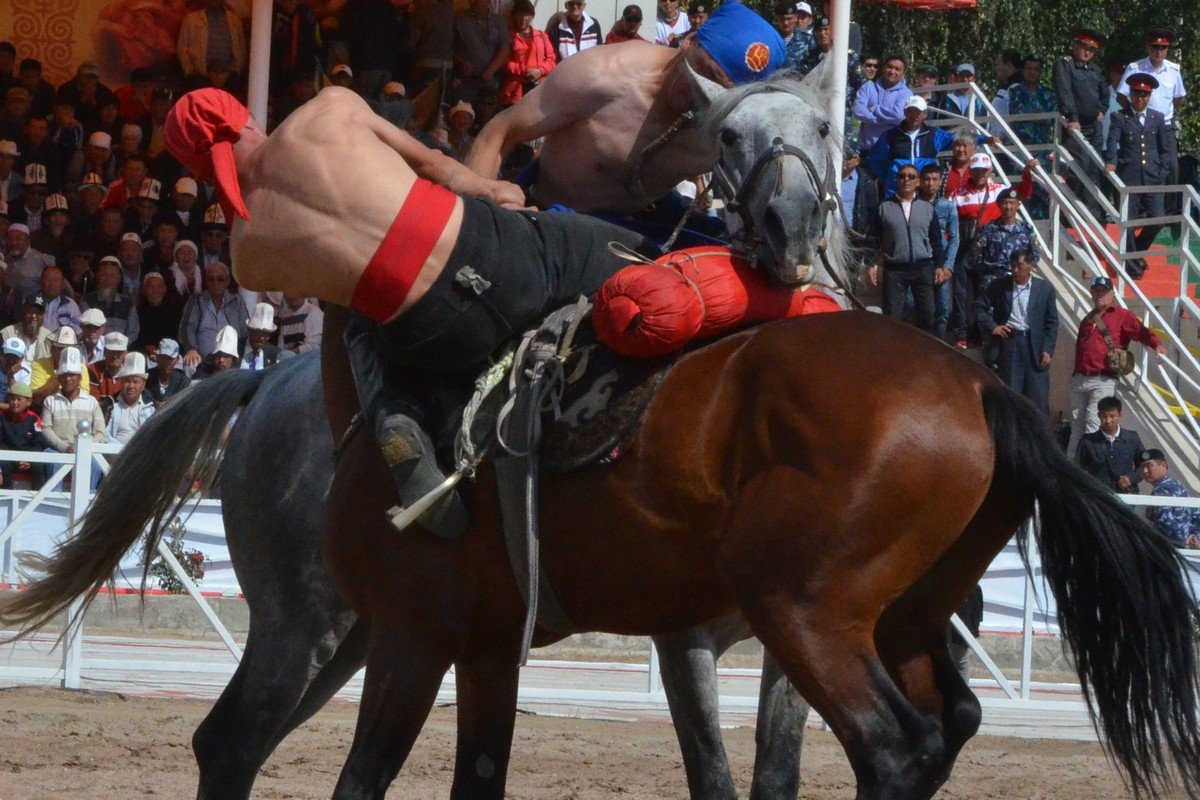 Competitions in er enish at the First World Nomad Games 2014