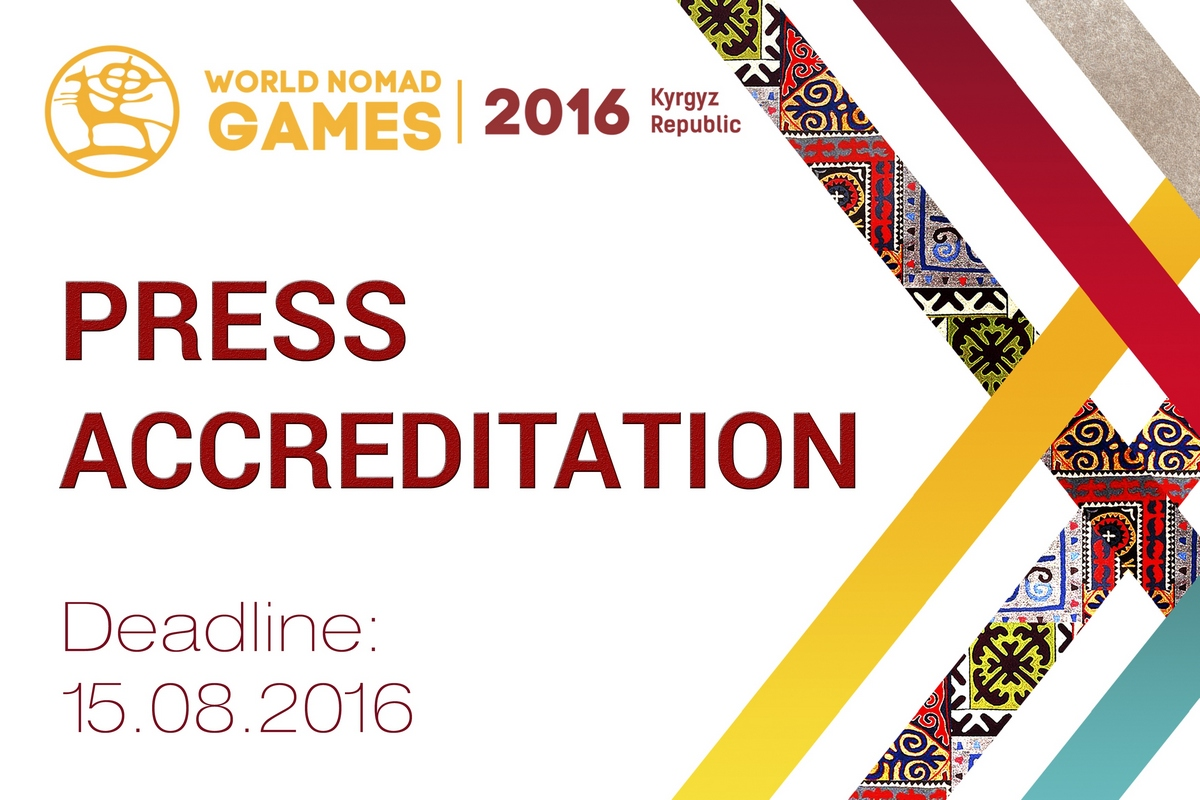 Media Accreditation for the Second World Nomad Games Finished