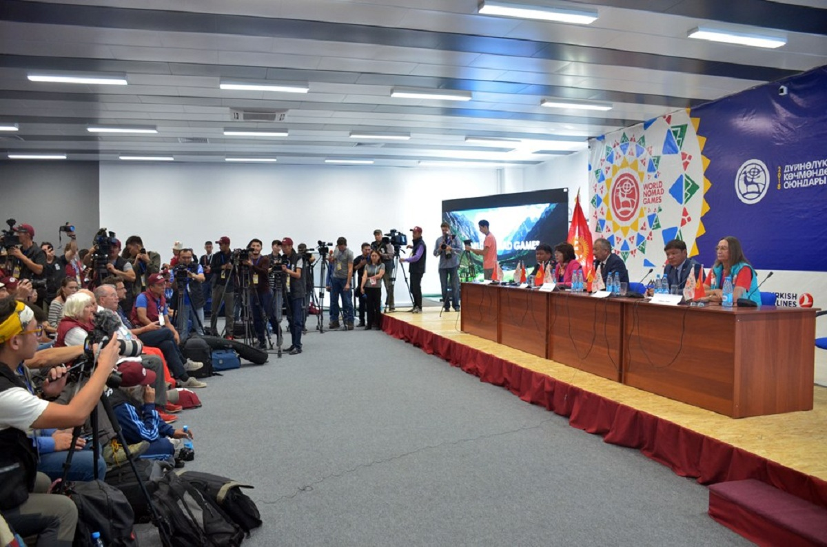 The first press conference for foreign and domestic journalists of the III World Nomad Games took pl