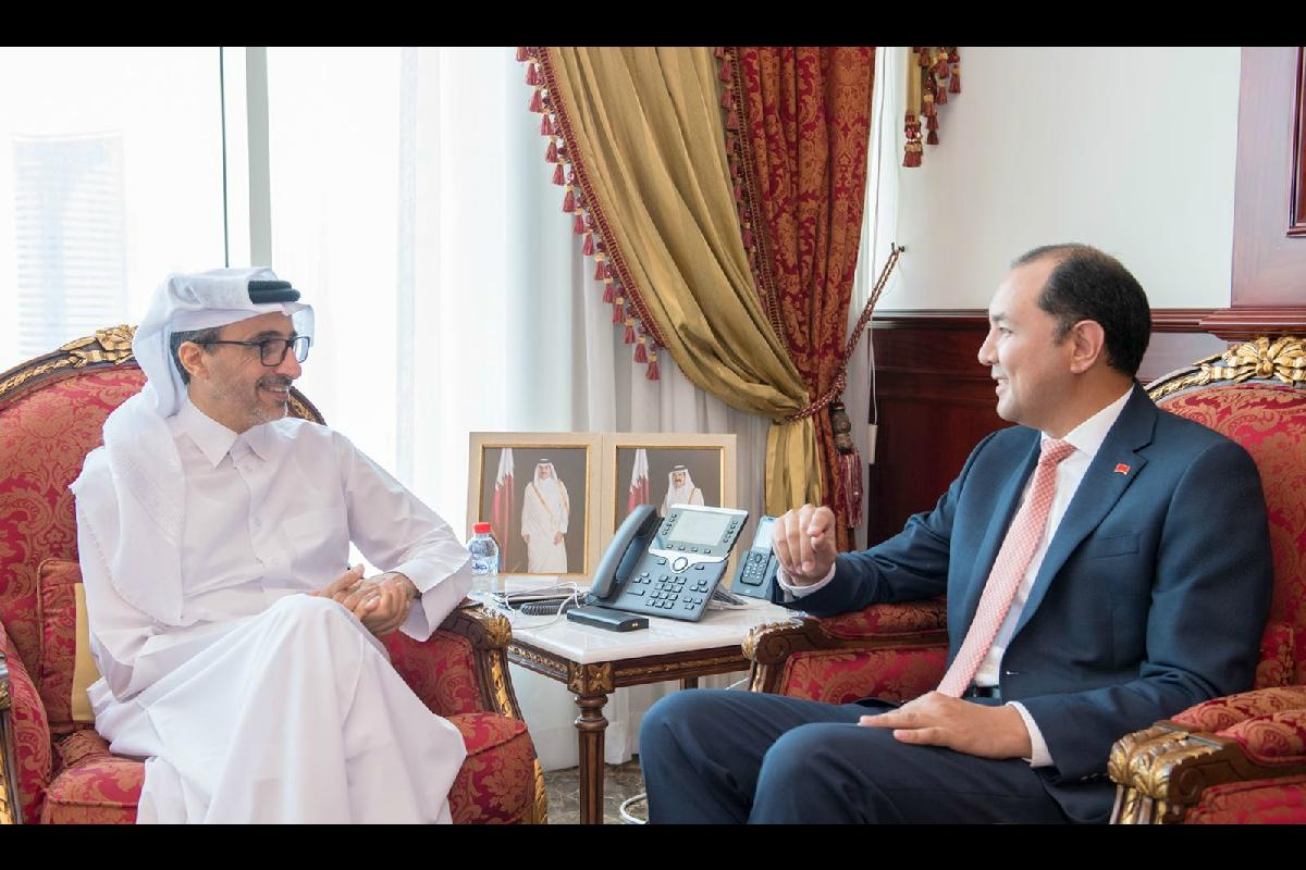 The Ambassador of Kyrgyz Republic met with the Minister of Culture and Sport of Qatar