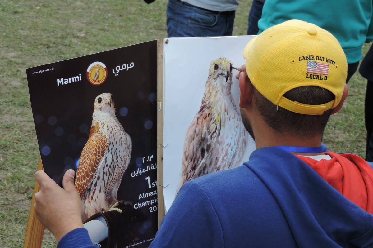 Drawing Contest for the Best Image of a Falcon was held in Kyrchyn Gorge